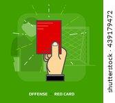flat illustration of penalty...   Shutterstock .eps vector #439179472
