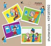 airplane transportation service ... | Shutterstock .eps vector #439185502