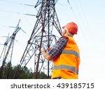 electrical engineer working.... | Shutterstock . vector #439185715