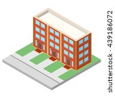 isometric building. house icon.  | Shutterstock .eps vector #439186072