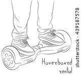 hoverboard rental. gyroscooter. ... | Shutterstock .eps vector #439187578
