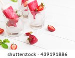 homemade frosty strawberry... | Shutterstock . vector #439191886