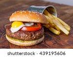 Hamburger With Quail Egg And...