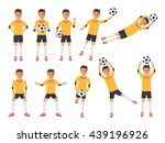 soccer sport athletes  football ... | Shutterstock .eps vector #439196926