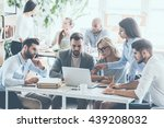 full concentration at work.... | Shutterstock . vector #439208032