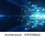 abstract cloud technology in... | Shutterstock .eps vector #439208662