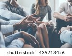 close up on discussion. close... | Shutterstock . vector #439213456