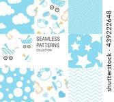 baby shower vector set of... | Shutterstock .eps vector #439222648