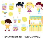 lemonade party clip art for... | Shutterstock .eps vector #439239982