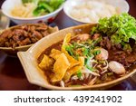 noodles with rice and vegetables | Shutterstock . vector #439241902