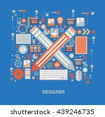 designer concept design on blue ...   Shutterstock .eps vector #439246735