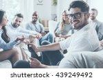 confident psychologist. group... | Shutterstock . vector #439249492