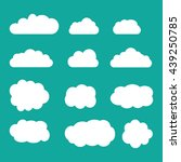 set of sky  clouds. collection... | Shutterstock .eps vector #439250785