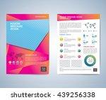 business brochure flyer design... | Shutterstock .eps vector #439256338