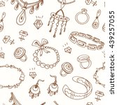 seamless pattern with... | Shutterstock .eps vector #439257055