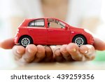 hand with car. auto dealership... | Shutterstock . vector #439259356