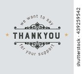 the logo with the words thank... | Shutterstock .eps vector #439259542