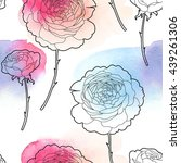 Stock vector english roses seamless 439261306