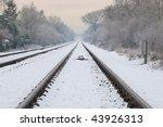 Winter Railroad Track...