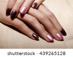 beautiful female fingers with...   Shutterstock . vector #439265128