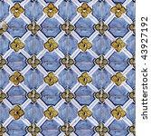 seamless tile pattern of... | Shutterstock . vector #43927192