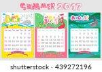 doodle calendar design 2017... | Shutterstock .eps vector #439272196
