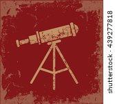 telescope design on red...