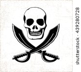Pirate Style Smiling Skull With ...