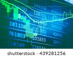 stock market chart which... | Shutterstock . vector #439281256