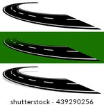 vanishing  fading two lane road ... | Shutterstock .eps vector #439290256