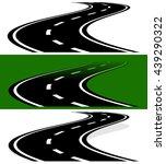 vanishing  fading two lane road ... | Shutterstock .eps vector #439290322