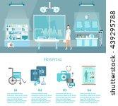 hospital interiors medicine...   Shutterstock .eps vector #439295788