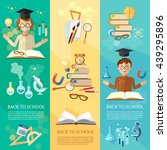 back to school banners... | Shutterstock .eps vector #439295896