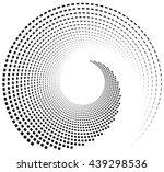 inward spiral of rectangles.... | Shutterstock .eps vector #439298536