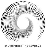 inward spiral of rectangles.... | Shutterstock .eps vector #439298626