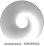 inward spiral of rectangles....   Shutterstock .eps vector #439299322