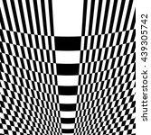checkered pattern with warp ... | Shutterstock .eps vector #439305742