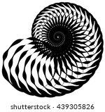 snail  helix made of inward... | Shutterstock .eps vector #439305826