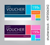 vector design for gift voucher... | Shutterstock .eps vector #439306342