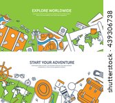 travel tourism vector... | Shutterstock .eps vector #439306738