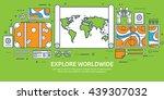 travel tourism vector... | Shutterstock .eps vector #439307032