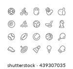 simple set of sport equipment... | Shutterstock .eps vector #439307035
