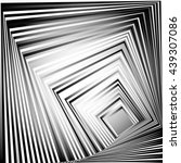 rotating squares. abstract... | Shutterstock .eps vector #439307086