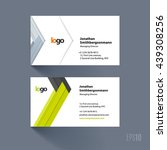 business card template with... | Shutterstock .eps vector #439308256