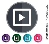 icons play squared for web ...   Shutterstock .eps vector #439310632