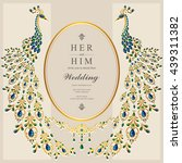 wedding invitation or card with ... | Shutterstock .eps vector #439311382
