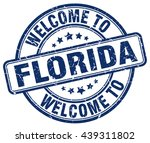 welcome to florida. stamp | Shutterstock .eps vector #439311802