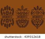 oktoberfest. 3 picture on a... | Shutterstock . vector #439312618