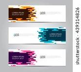 vector design banner background.... | Shutterstock .eps vector #439314826