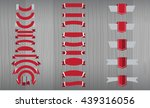 new vector set of red ribbon ... | Shutterstock .eps vector #439316056
